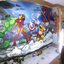 NEW WALL INSPIRED IN MARVEL SUPER HEROES